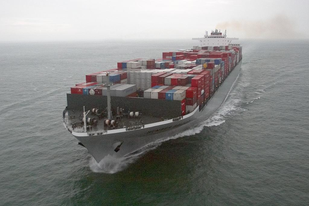 containers at sea