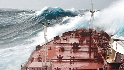 Facing rough seas