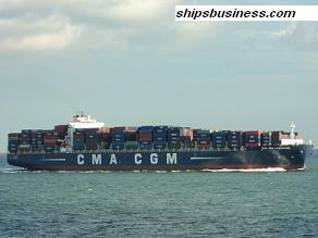 CMA CGM Lamartine at sea passage