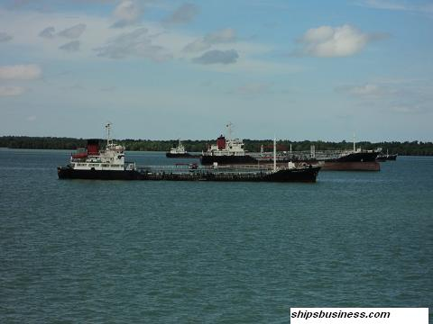 Bunker barges at Port klang anchorage